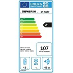 Severin KS 9827 Frigorifero e Congelatore, 42 litri (36 + 6), Classe Energetica A+, Supersilent 43 dB(A)