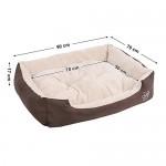 SONGMICS L Letto per Cani, Cuscino per Cani, divano per cane, cestino per cane, 90 × 70 cm PGW04Z