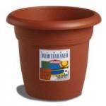 Stefanplast 82220 Mediterraneo Vaso, 22 cm, Marrone