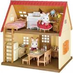 Sylvanian Families - Set di mobili di arredamento per casetta Cosy Cottage, incl. pupazzetto di Mamma Coniglio Cioccolato
