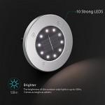 Luci Solari Giardino Tomshine 10 LED Luci led Solari da Esterno Faretti Solari a LED da Esterno IP65 Impermeabile(Bianco caldo)【4PC】