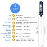 TOPELEK Digitale Termometro da Cucina con Lettura Istantanea- Blu