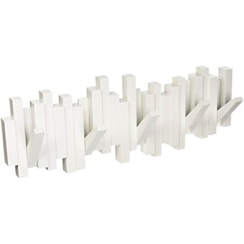Umbra - Ganci da parete ribaltabili, colore: Bianco
