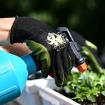 Vgo Glove Guanti, 3 paia, guanti da lavoro e giardinaggio in nitrile, guanti da giardino, edile, multifunzione (8/M,Viola & Verde & Rosa,NT2110)