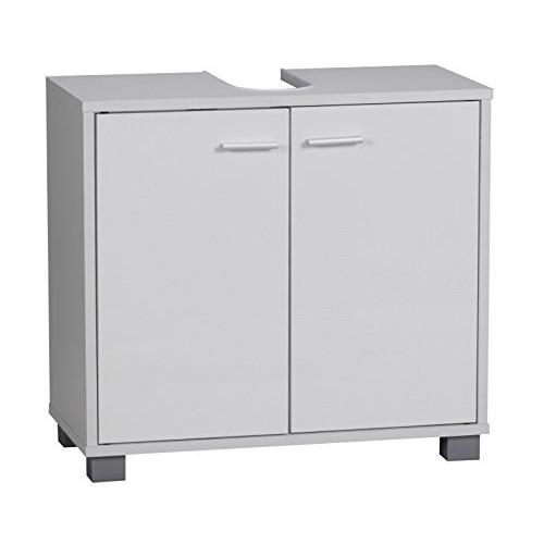 Wohnling WL1.344 - Mobile da bagno per lavabo, 60 x 55 x 30 cm, 2 ante, colore: bianco
