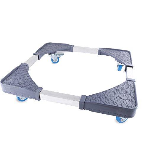 Multifunzionale regolabile mobili base con ruote girevoli in gomma 4LOCKING taglia per lavatrice asciugatrice frigorifero armadio