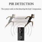 1080P HD WIFI Campanello Senza Fili E Visione Notturna PIR Videocitofono Elettronico Intelligente Chiamata Bidirezionale 166 ° Grandangolo E Contro...