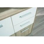 Links - Ischia C2 - Buffet. Dim: 77x30x77 h cm. Col: Rovere, Bianco. Mat: Nobilitato.